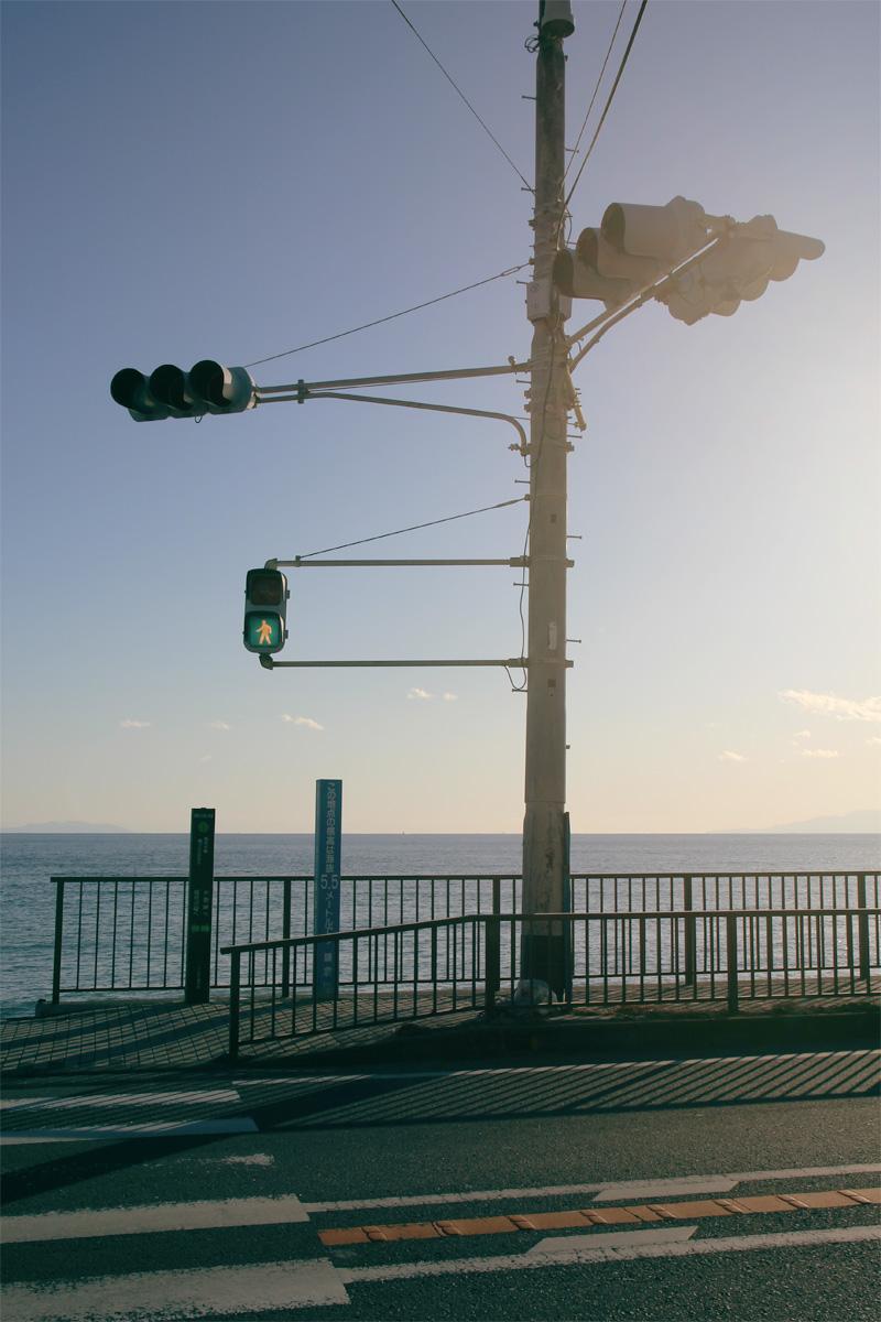 稲村ヶ崎海岸。